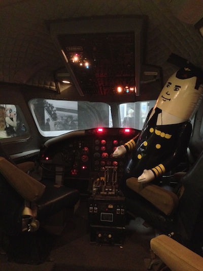 "Cockpit Mockup with Otto from ""Airplane!"" movie"