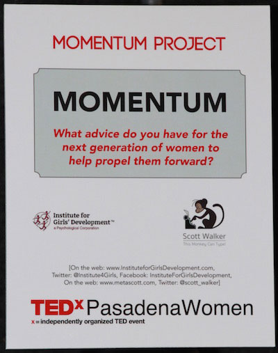 Momentum: What Advice Do You Have For Women?