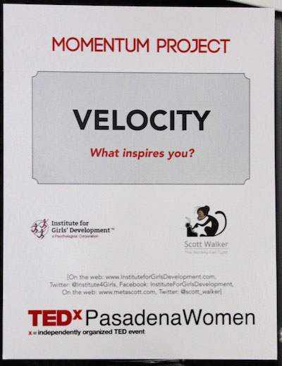 Velocity: What Inspires You?