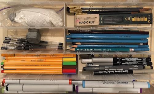 Art Supplies for First Day of Art Class!
